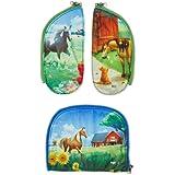 ergobag Zippies - Schulranzen Zubehör Set 3-teilig für Kinder, Jungen und Mädchen - Pferd - Pink
