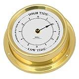 Fischer Maritime Tiden-Uhr, Messing Poliert, 125mm