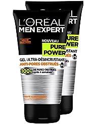 L'Oréal Men Expert Pure Power Gel Ultra-Désincrustant Homme - Lot de 2x 150 ml