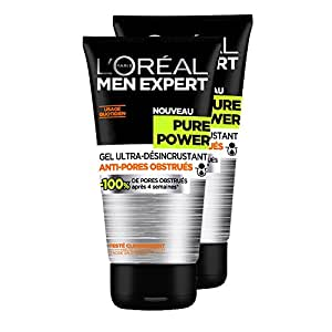L'Oréal Men Expert Pure Power Gel Ultra-Désincrustant Homme - Lot de 2x 150 ml