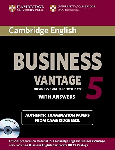 Cambridge English Business 5 Vantage Self-study Pack (BEC Practice Tests) por Cambridge ESOL
