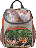 Kinder Rucksack - Fuchs - Füchse - Kinderrucksack - mit Hauptfach und Nebenfach Getränkenetz