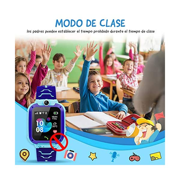 NAIXUES Smartwatch Niños, Reloj Inteligente Niño IP67, LBS, Hacer Llamada, Chat de Voz, SOS, Modo de Clase, Cámara… 4