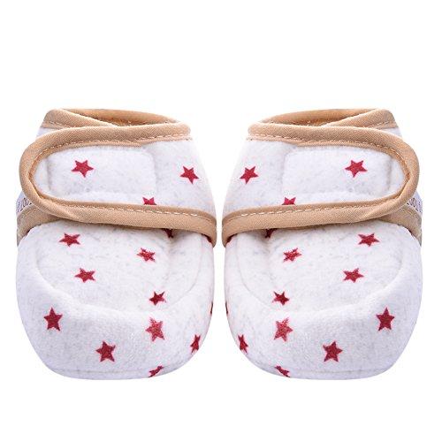 Baby Neugeborene Kleinkind Schuhe, Luerme Weiche Sohle Bequeme Schuhe Baumwolle Gepolsterte Stiefel (0-6 Monate, Rosa)