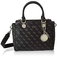 GUESS Womens Status Satchel Bag, Coal - SG743706