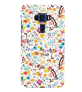 KIDS ENJOYMENT STUFF IN AN ABSTRACT PATTERN 3D Hard Polycarbonate Designer Back Case Cover for Asus Zenfone 3 ZE552KL::Asus Zenfone 3 (5.5 INCHES)