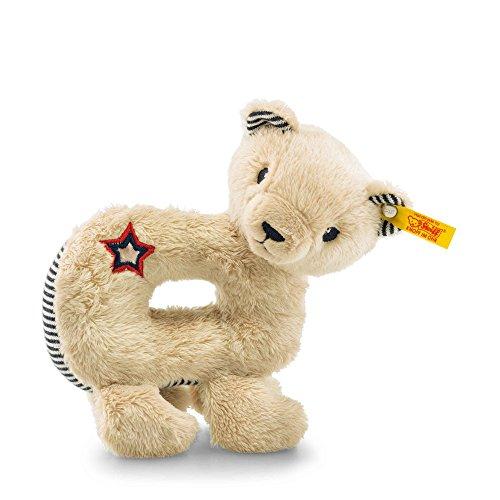 Steiff-Teddy-Bear-Band-Niklie-Grip-Toy-With-Squeaker-BeigeBlue