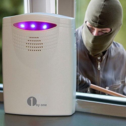 Allarme Wireless per Vialetti e Sicurezza Casa, Kit 1 Ricevitore AC e 1 a Batteria, Sensore di Movimento Passivo PIR, Allarme Resistente alle Intemperie con Infrarosso Patrol