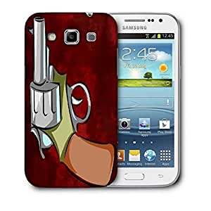 Snoogg Pistol Red Designer Protective Back Case Cover For Samsung Galaxy Win i8552