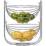 Bloomsbury Moulin–Fil panier à fruits et légumes–Hamac Design–2étages–Chrome