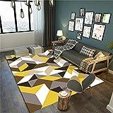 Wohnzimmer Dekorative Teppiche 3D Printing & Draping Geometrische Muster Fußmatten Europäischen Einfachen Stil Rechteckige Teppiche Kinder Teppiche Schlafzimmer Rutschfeste Teppiche Teppich Teppiche