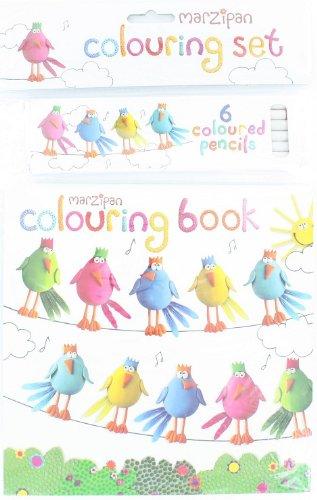 Unbekannt Robert Frederick hängende Vögel Malbuch Set mit 6Bleistifte, sortiert