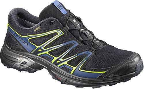 Salomon Wings Flyte 2, Scarpe da Trail Running Uomo, Grigio (Quiet Shade/Black/Mallard Blue ), 44 EU