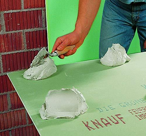 Knauf Perlfix Ansetzgips für Trockenbau - Montage-Kleber, anmach-fertiger Gipsplatten-Kleber mit gutem Haftvermögen für optimalen Halt im 10 kg Sack