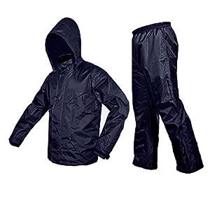 Zavia Premium Plain Rain Coat (XXL-Blue)
