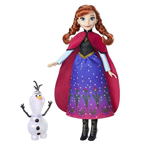Hasbro Disney Die Eiskönigin B9200ES0 - Zauber der Polarlichter Anna und Olaf, Spielset (Disney-puppe Kleid-set)