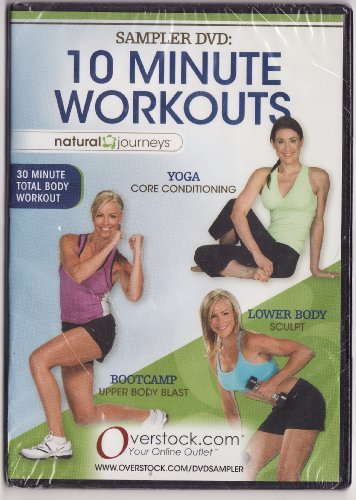 Natural Journeys Sampler DVD: 10 Minute Workouts - Yoga, Lower Body, Boot Camp