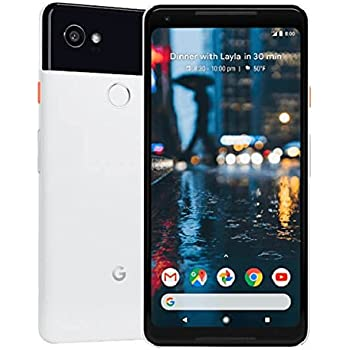 """Pixel 2 XL Phone (2017) by Google, 64GB G011C, 6"""" inch Factory Unlocked Android 4G/LTE Smartphone (Black & White)"""