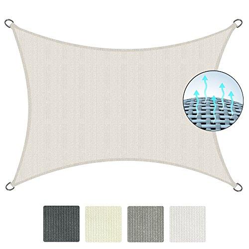 Sol royal tenda a vela traspirante 300x200 cm solvision hs9 - protezione rettangolare parasole e anti uv - crema