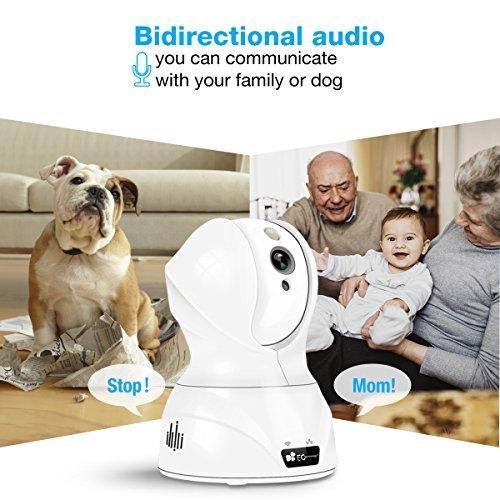720P HD Wireless Wlan/Wifi IP Kamera von EC Technology Schwenkbare Indoor Baby Monitor Heim Home Security Überwachungskamera mit Bewegungserkennung - 6