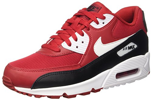Nike Herren Air Max 90 Essential Low-Top, Rot (Gym Red/White-Black-White), 45 EU