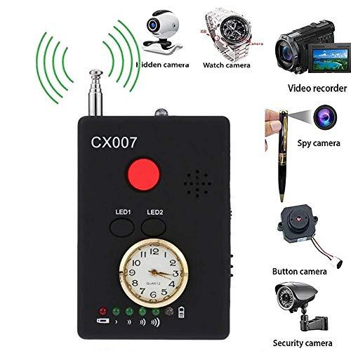Hangang Multifunktionale Anti-Spy Full-Range-Funk Wireless Signal Radio Detector Versteckte Kamera Auto-Erkennung Tracer Finder 1MHz-6,5 GHz Reichweite einstellbare Empfindlichkeit