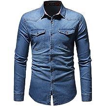 Hombre camisa manga larga Otoño,Sonnena ❤ Camisa vintage otoño invierno de los hombres