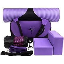 Yoga Starter Kit - 6 en 1 Set Essential Beginners Bundle Inclure tapis  d exercice Yoga 055aa663dee