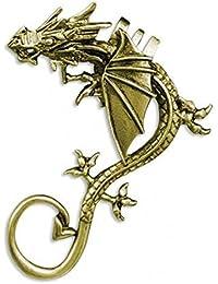 Icefyre Dragon Antique Golden Ear Cuff Earring By Via Mazzini (Left Ear)