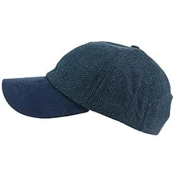 5771fdbcd20 Hawkins Wool Tweed Herringbone Baseball Cap - Blue  Amazon.co.uk ...