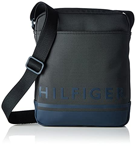 Tommy Hilfiger Herren SIGNATURE STRIPE SLIM REPORTER Business Tasche Schwarz (Black)