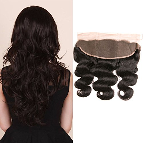 PURUN Brazilian Hair Frontal Lace 13x4 Closure Top Lace avec Baby Hair Grade 8A Bresilienne Cheveux Frontale Ondule Body Wave 18 pouces