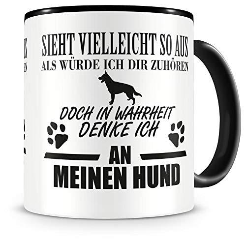 Samunshi Ich denke an meinen Hund Tasse Kaffeetasse Teetasse Kaffeepott Kaffeebecher Becher