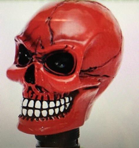 Preisvergleich Produktbild Bad Red Skull Schaltknauf universell verwendbar für Fahrzeuge ohne RGA (Rückwärtsgangarretierung)