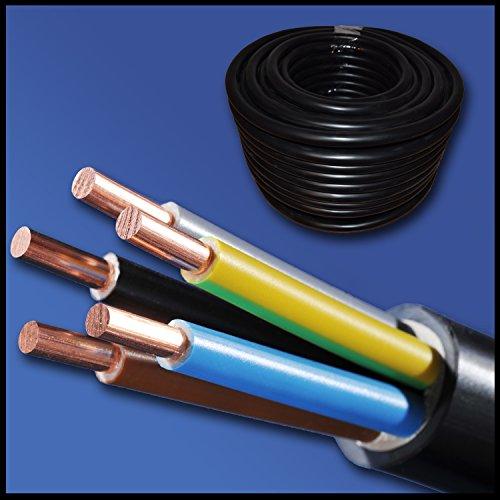 Preisvergleich Produktbild Starkstromkabel - Erdkabel - NYY-J 5x4 mm² - schwarz - große Mengenauswahl - ab 1 m frei wählbar - in einer Länge geliefert