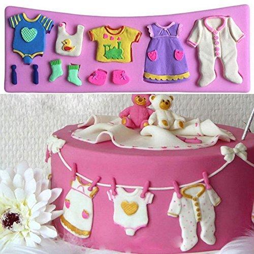 Backform Silikon 3d für Pizzarahmen Baby Shower Kleid Babyphone Torten und Desserts in Taufe, Geburtstag, Party. Wiederverwendbar
