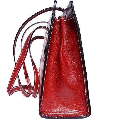Frauen Schultertasche mit Doppelgriff 6510 Rot