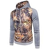 TSNMNT Winter 3D Printed Hoodies Sweatshirt Männer Hoodies Jacken Pullover, XL, Hellgrau