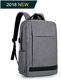 Zaino porta computer 15.6 pollici antifurto zaino per pc backpack laptop Impermeabile con usb (grigio)