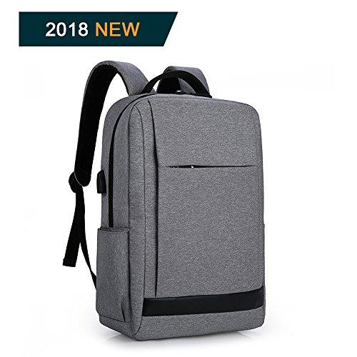Zaino porta computer 15.6 pollici antifurto zaino per pc backpack laptop Impermeabile con usb (nero)