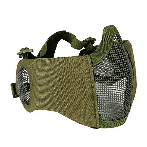 (Taktische Maske, Fansport Praktische Atmungs Gehörschutz Airsoft Maske Outdoor Mesh Maske Unisex)