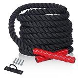 CCLIFE Corde Ondulatoire - Corde d`entraînement - Corde de Bataille - Corde de Fitness (diamètre: 38mm) Choix de Longueur: 9m\15m, Size:9m