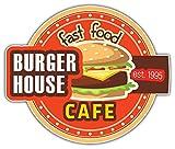 SkyBug Burger House Fast Food Bumper Sticker Vinyl Art Decal Vinile Adesivo for Car Truck Van Window Bike Laptop