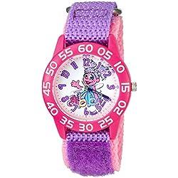 eWatchFactory Girl's 'Sesame Street' Quartz Plastic and Nylon Automatic Watch, Color:Purple (Model: W003195)