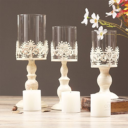 Retro vetro Candeliere Dinning Table / Wedding Candle Holder (12 * 12 * 38 cm)