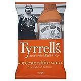 Tyrrells Worcestersauce Und Getrockneten Tomaten Chips 150G - Packung mit 6