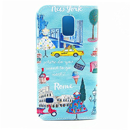 iPhone 5S Hülle Case,iPhone SE Hülle Case,Gift_Source [Card Slot] [Kickstand Feature] Magnetic Closure Unique Premium PU Leder Flip Brieftasche Hülle Case Folio Stand Hülle Case Cover für iPhone SE/5s E01-09-Postcard
