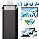 Wireless WiFi Display Dongle HDMI 4K, DIWUER 5G +2.4G Drahtlos Anzeigeempfänger Adapter, Unterstützung Miracast Airplay DLNA für Android iOS Smartphone PC TV Monitor Projektor