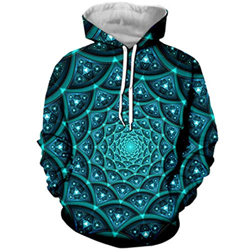 SWETHENG 3D Kleidung Blase Loch Hoodies Hooded Sweatshirt -