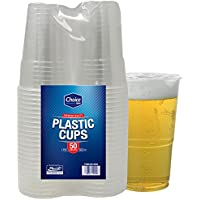 Choice Dining Pack of 50 Strong Plastic Pint Glasses Disposable Beer Cups Great For Party's And All Typs Of Events And Celebrations 660ml